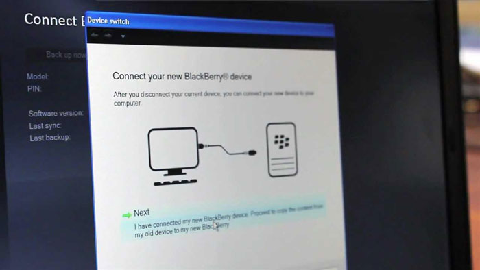 como transferir dados do blackberry device to another blackberry