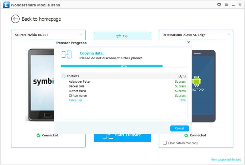 como transferir sms e contatos do symbian para android