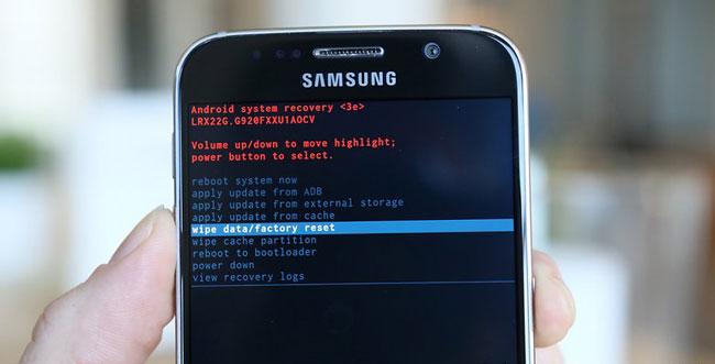 desbloquear telefone samsung usando o reset de fabrica