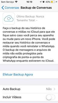 como o whatsApp cria backups automaticamente