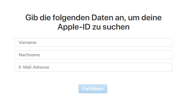 Die Apple ID zurücksetzen