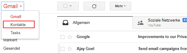 iPhone-Kontakte mittels einer Drittsoftware an Gmail übertragen - dr.fone