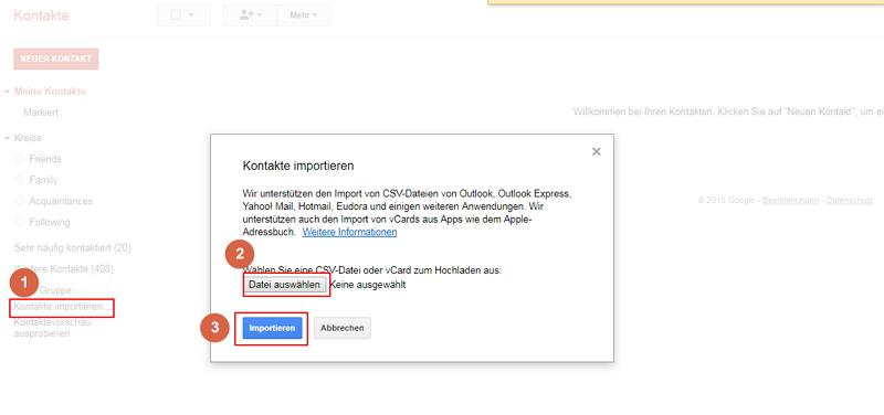 iPhone-Kontakte an Gmail übertragen - dr.fone