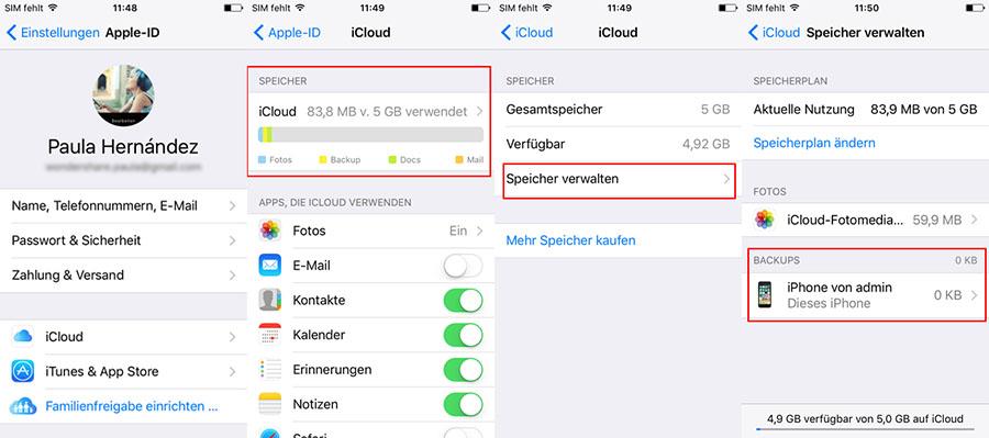 Fotos von der iCloud auf dem iOS-Gerät wiederherstellen (iOS-Gerät benötigt)