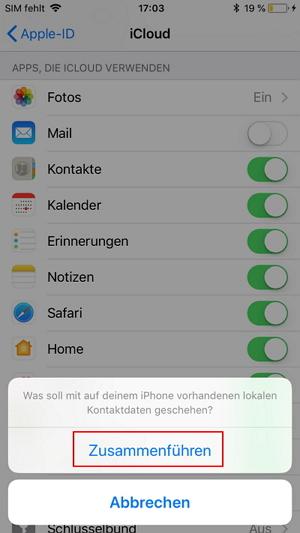 wie Sie iPhone-Kontakte in der iCloud sichern