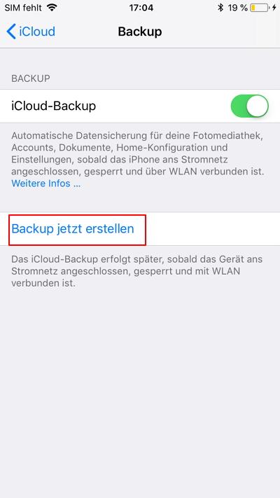 wie Sie iPhone-Kontakte sichern
