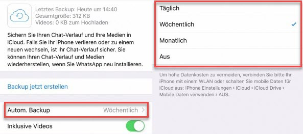 WhatsApp-Videos speichern