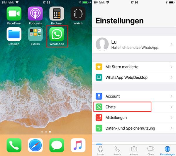 WhatsApp Nachrichten über die iCloud archivieren