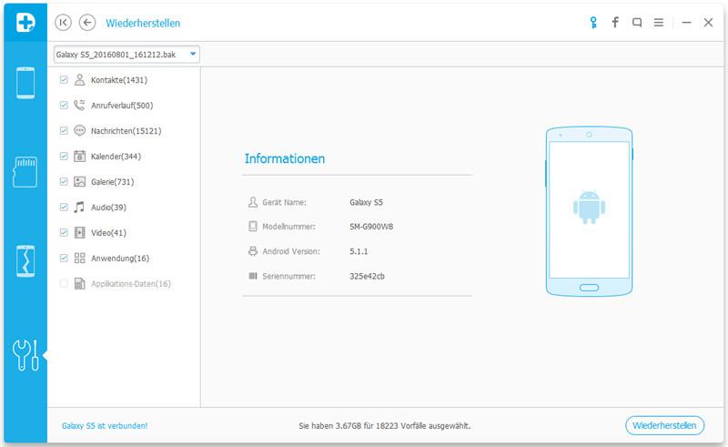 Android-Datenbackup & Wiederherstellung