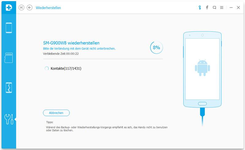 Android App Daten Backup Wiederherstellung