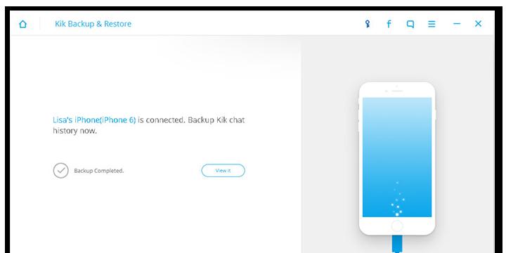 iOS KiK Datenbackup & Wiederherstellung