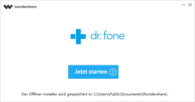 Dr.Fone öffnen