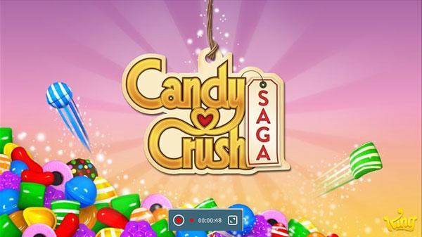 candy crush saga aufnehmen