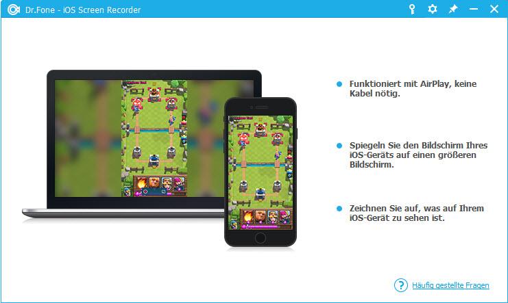 Starten, um den iPad-Bildschirm aufzuzeichnen