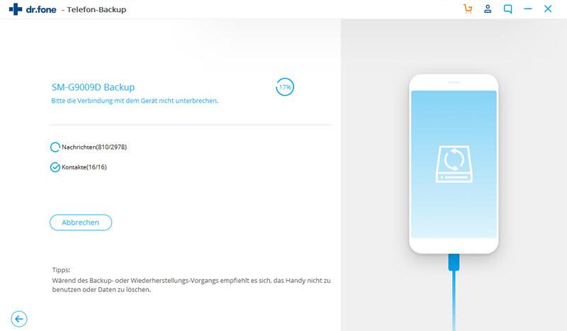 Samsung-Dateien auf dem Galaxy S8 sichern