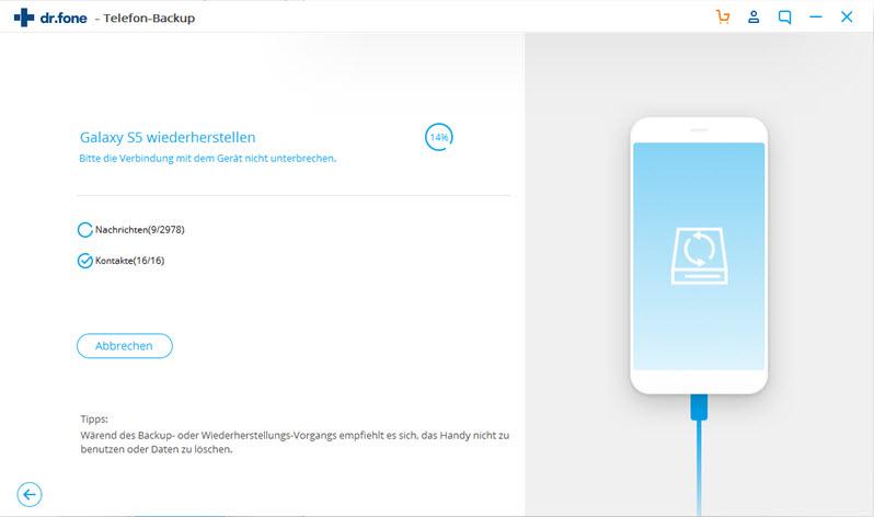 Android-Smartphone auf dem PC sichern