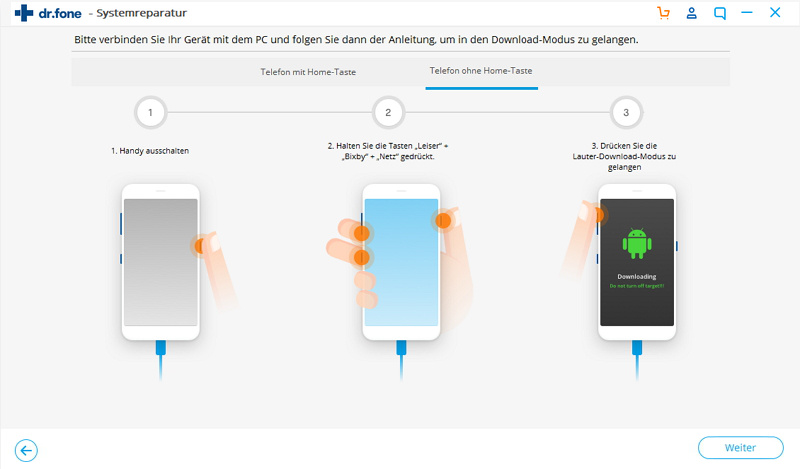Android Systemreparatur Software - in den Download-Modus versetzen