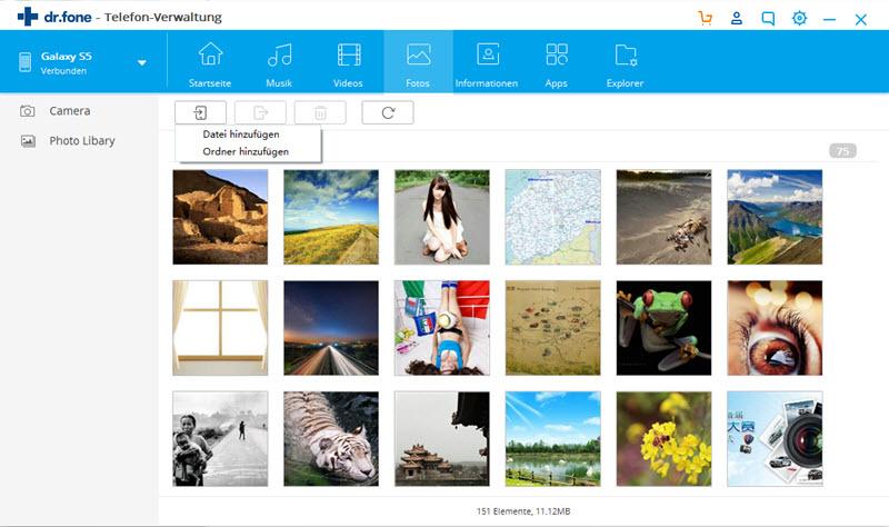 Fotos vom PC mit dem Samsung Galaxy S8-Manager auf das Galaxy S8 übertragen