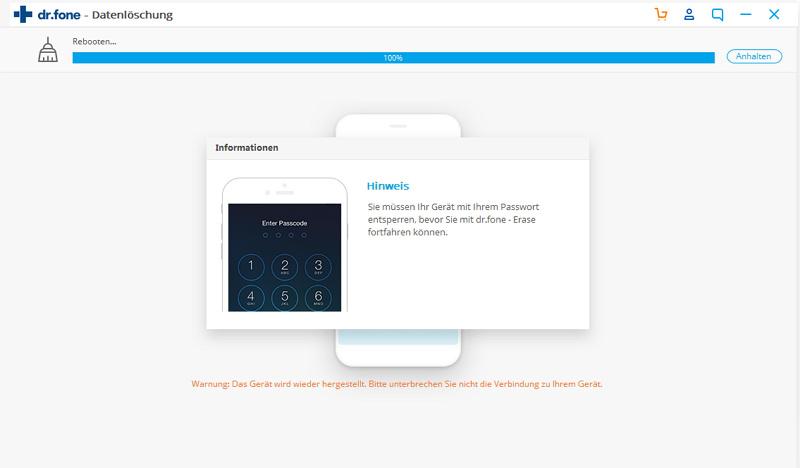 iOS-Starts während der Bereinigung