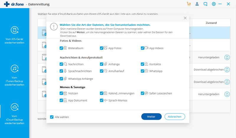 Fotos direkt von der iCloud-Backupdatai auf dem PC restaurieren (iPhone, iPad or iPod werden nicht benötigt)