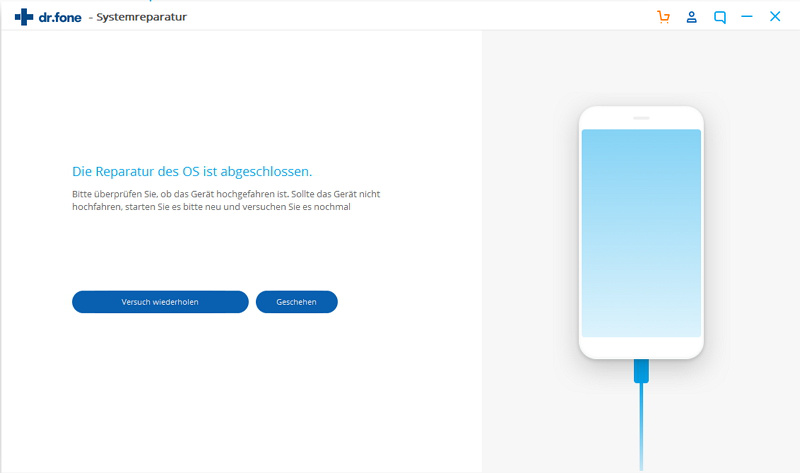 mein iPad zeigt einen blauen Bildschirm
