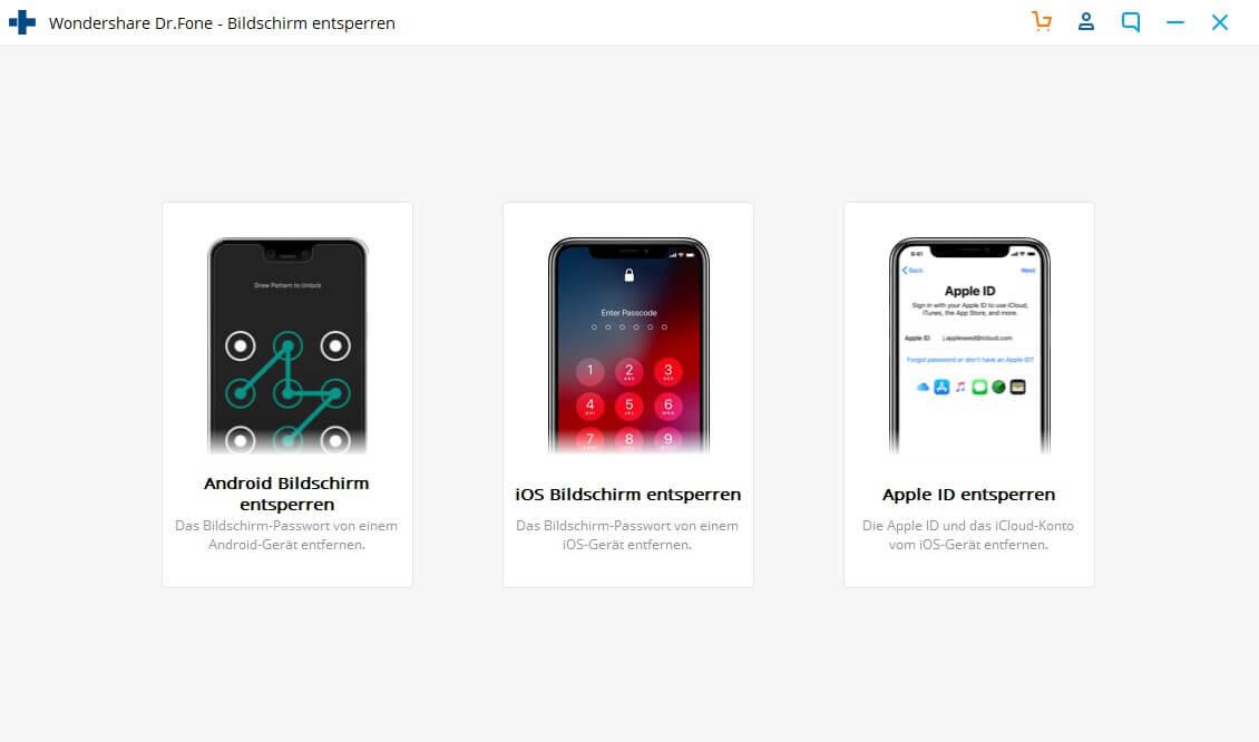 Apple ID Passwort vergessen und iphone mithilfe dr.fone zurücksetzen