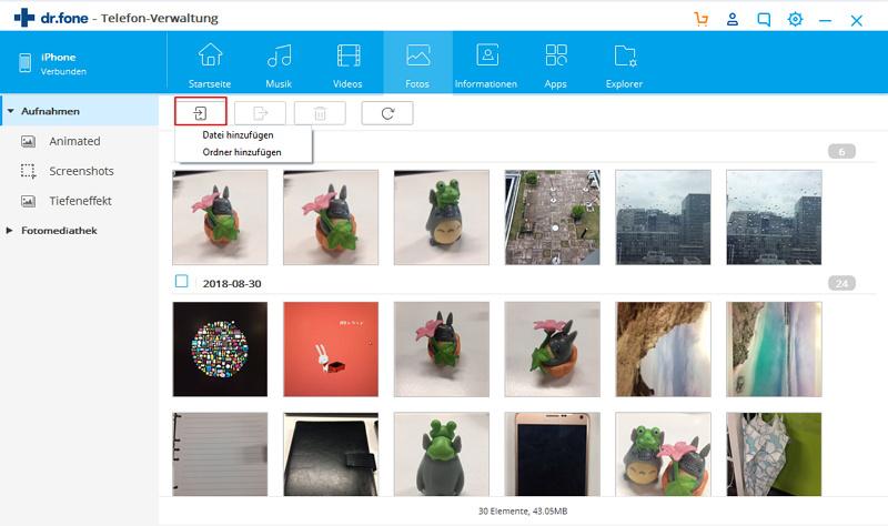 bilder vom pc auf iphone kopieren mit Wondershare Dr.Fone
