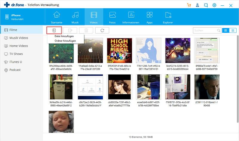 Dateien vom PC auf das iPad übertragen - Videos übertragen
