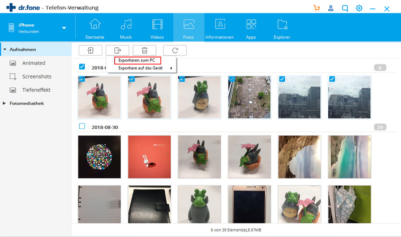 iphone musik photos auf pc exportieren