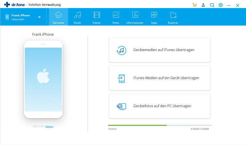iTunes Backup-Passwort - Wondershare dr.fone