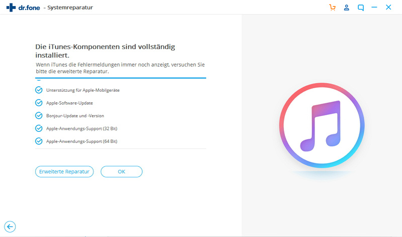 erweiterte Reparatur zur Behebung des iTunes-Fehlers 9