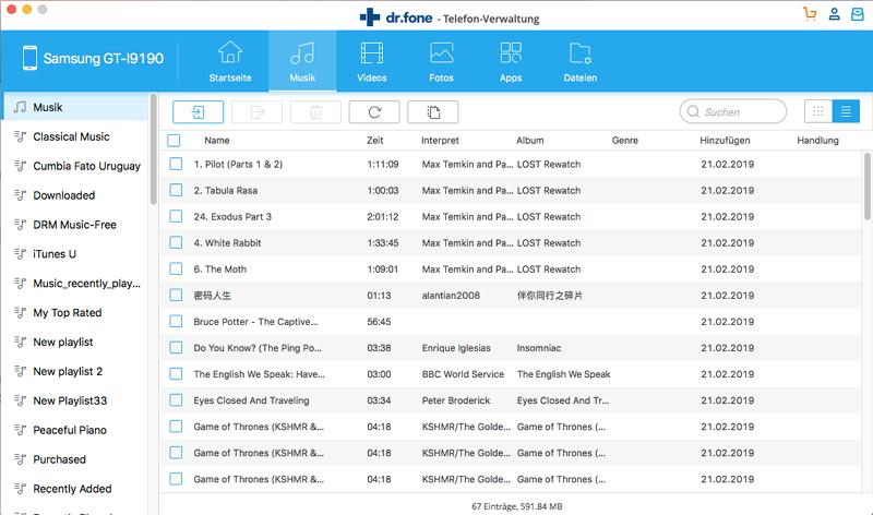 Android Dateiübertragung Mac-Mehrere Dateien übertragen