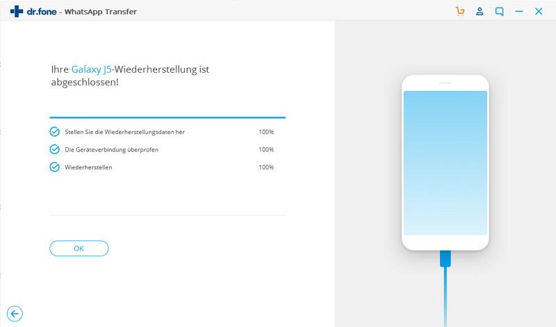Android Whatsapp Backup wiederhergestellt