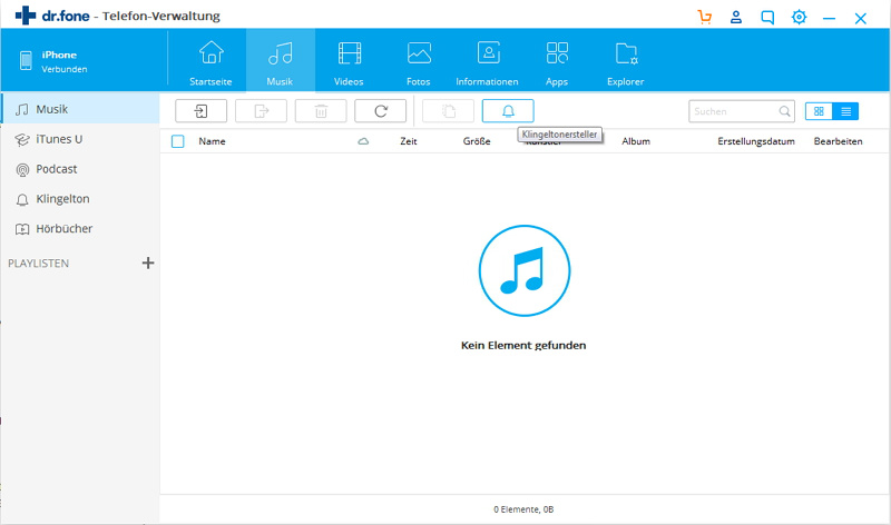 Verwenden Sie den Klingelton-Maker, um Klingeltöne zu Ihrem iPhone XS (Max) hinzuzufügen