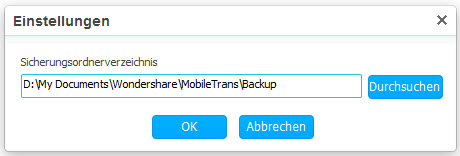 MobileTrans Android-Appdaten sichern