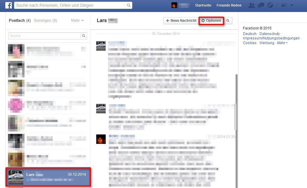 nachrichtenverlauf facebook