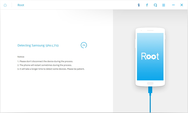 root lg g4 - detecting device