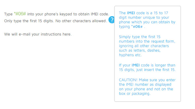 retrieve the IMEI code to unlock iPhone