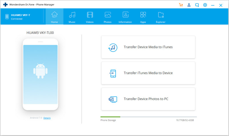 samsung file transfer software-dr.fone transfer homepage