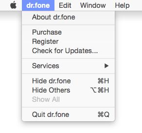 open dr.fone on mac