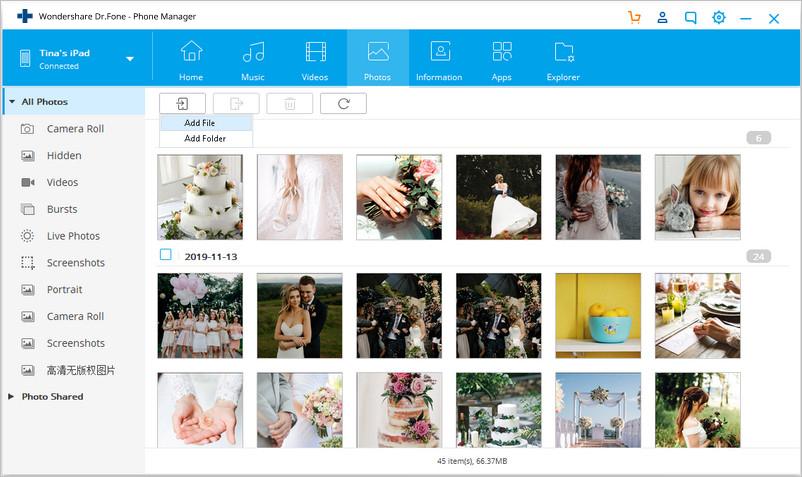 Transférer des photos du PC vers l'iPad avec TunesGo