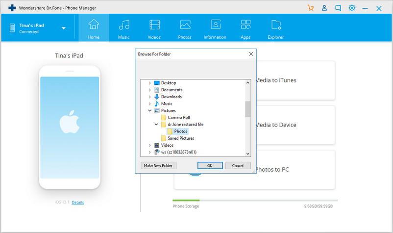 esegui un backup dei files dell ipad al disco esterno con un sistema facile