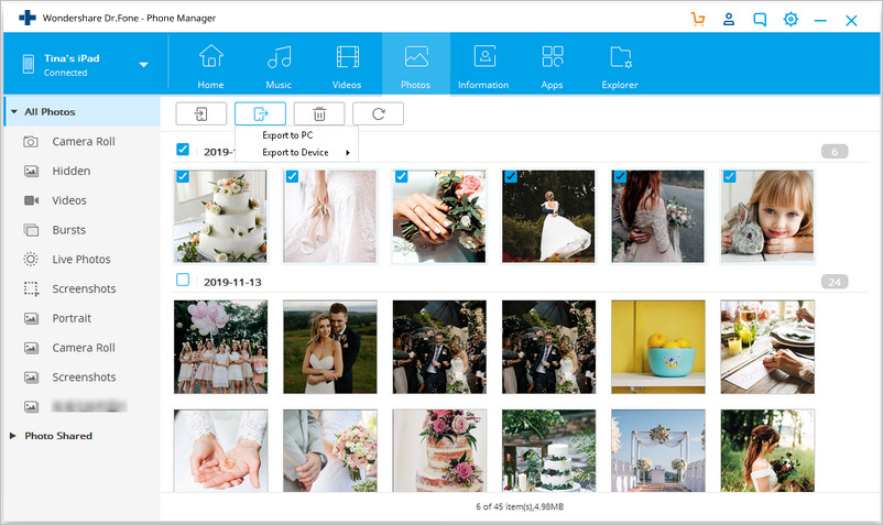Transfer Photos from iPad to PC without iTunes - Transfer Photos