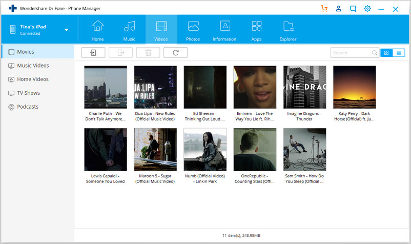 transfer files to ipad from pc - Trasfer Videos