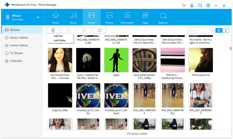 import videos to iPad