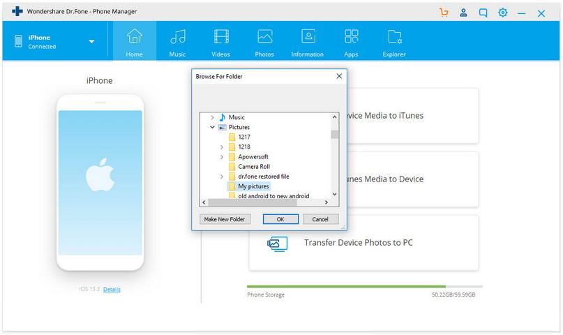 how to backup iPhone photos to an external hard drive