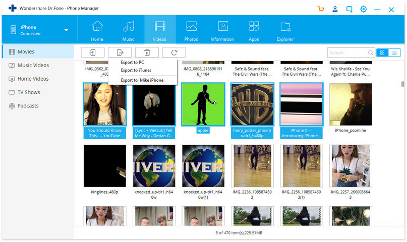 Transfer Videos from iPhone to Mac - export iphone shot video