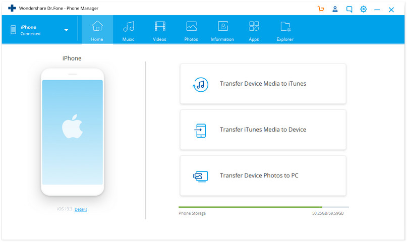 Trasferire musica diretta su iPod/iPad/iPhone al dispositivo Android con Wondershare dr.fone - Trasferimento