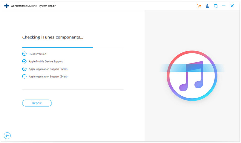 fix iTunes error 2005 or 2003 by checking components