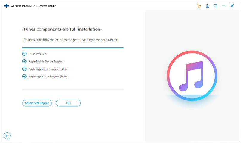 advanced repair to fix iTunes error 9